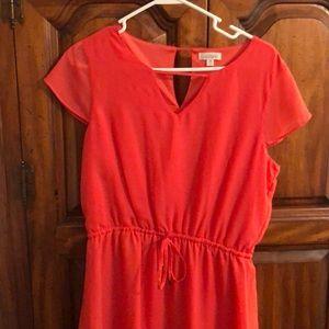 Charming Charlie's Cap Sleeve Blouse Dress